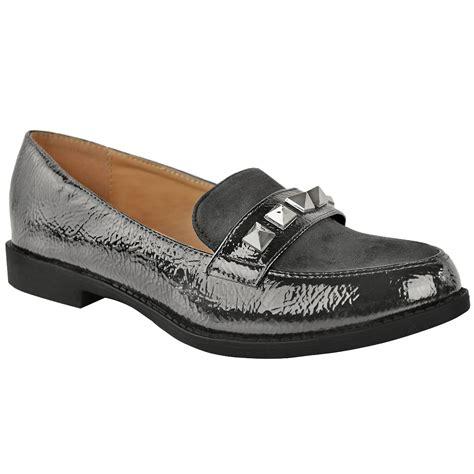Sandal Heels Casual Wanita Yt 055 womens loafers brogues pumps casual school office comfy work flats size ebay