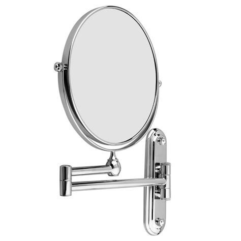 Chrome Wall Mounted Extending Man Shaving Makeup Extending Magnifying Bathroom Mirror