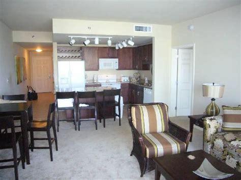 2 bedroom suites in panama city beach fl living room kitchen of two bedroom 2 bath condo