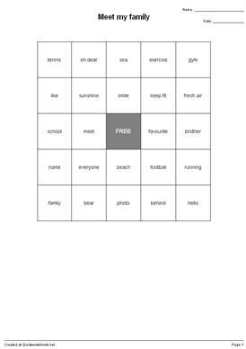 shared bingo sheet worksheets