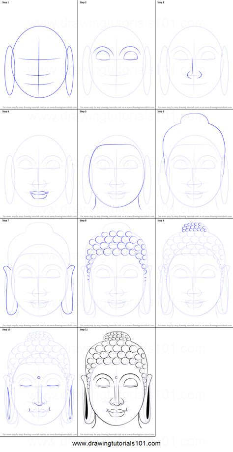 Drawing Step By Step by How To Draw Buddha Printable Step By Step Drawing