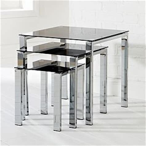 amazon nest of tables odyssey nest of tables black glass amazon co uk