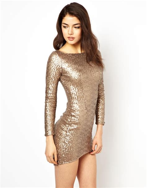 house of dereon dresses house of dereon sequin dress in metallic lyst