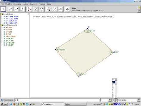 somma angoli interni somma degli angoli interni ed esterni di un quadrilatero