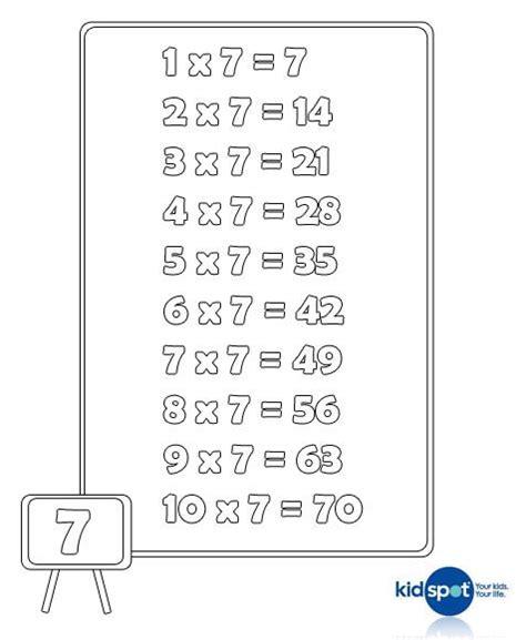 7 Times Table by Times Tables For 7 Times Tables Kidspot