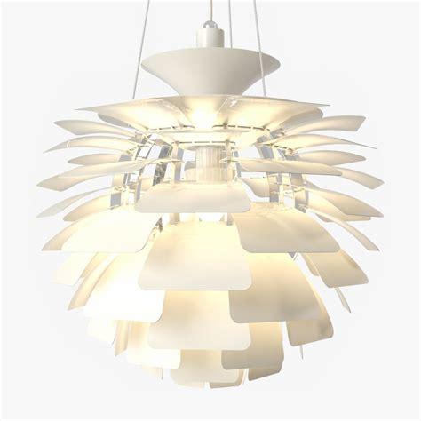 Artichoke Pendant Light 3d Model Artichoke Pendant L White