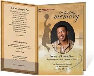 funeral bulletin template free funeral bulletins basketball single fold funeral programs