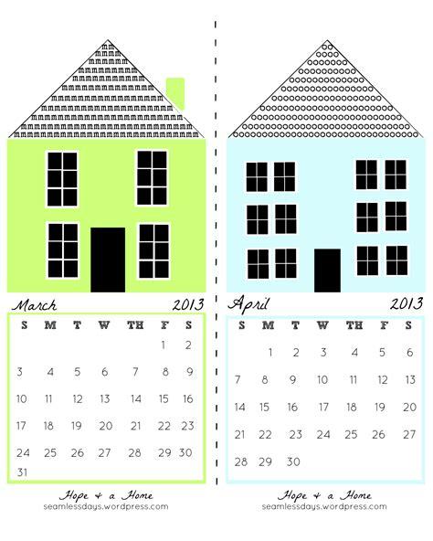 A C T Calendar And A Home Free Printable 2013 Calendar
