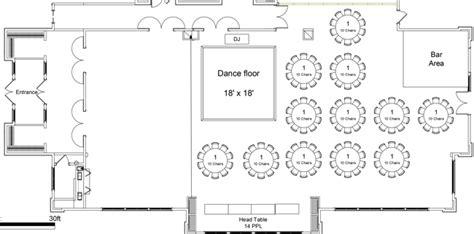 wedding layout diagram weddings receptions stonewater golf course