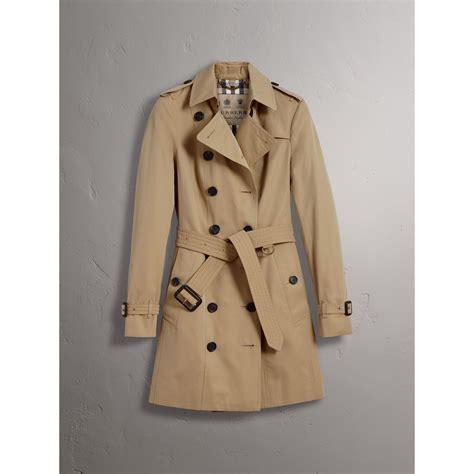 Trench Coat the sandringham mid length trench coat in honey