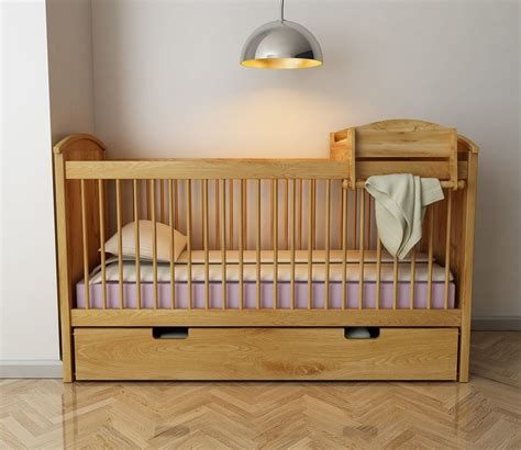 baby bed extension cot baby bed free 3d model max obj fbx mtl cgtrader com