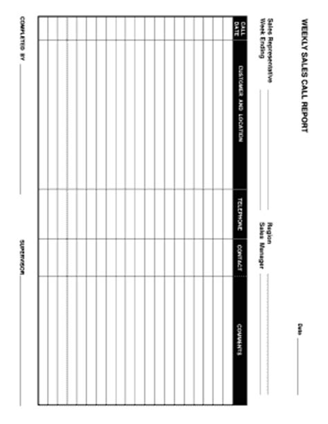 sales call report template excel kays makehauk co