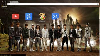 wallpaper chrome exo exo chrome themes themebeta