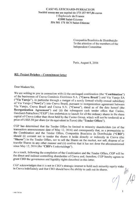 Commitment Letter Gdufa Ii No Material De Apoio Preparado Obradesco Bbi Detalhou Todas As Intera 231 245 Es E An 225 Lises Realizadas