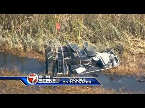 airboat crash 2 hospitalized after airboat crash youtube