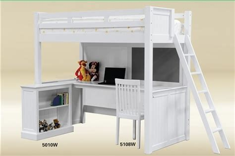 Molly White Twin Loft Bed With Desk Underneath White Loft Bed Desk