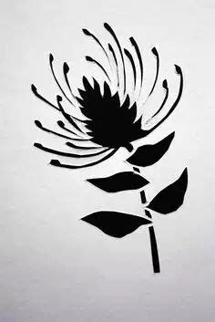 tattoo paper south africa large wall stencil patterns pin cushion protea flower
