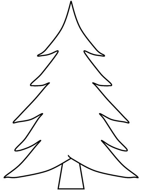 christmas tree outline coloring home