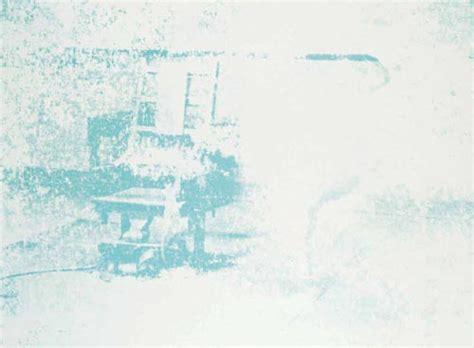 sedia elettrica andy warhol sedia elettrica di andy warhol 1928 1987 united states