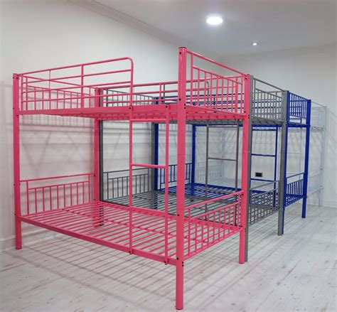 Strong Metal Frame Cheap Queen Size Bunk Bed For Sale Steel Frame Beds Sale