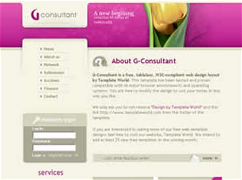 G Consultant Free Website Template Free Css Templates Free Css Marketing Consultant Website Template