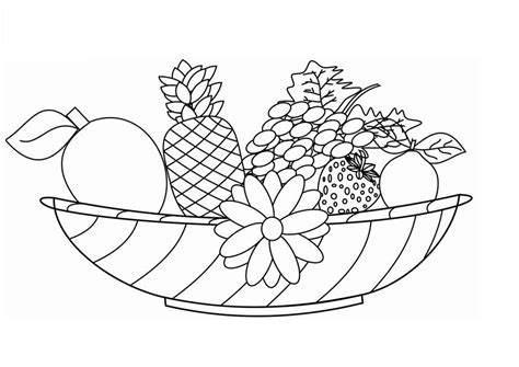 fruit basket coloring page az coloring pages