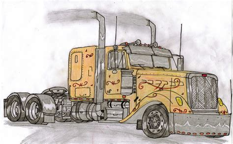 trucks drawings vintage truck drawing