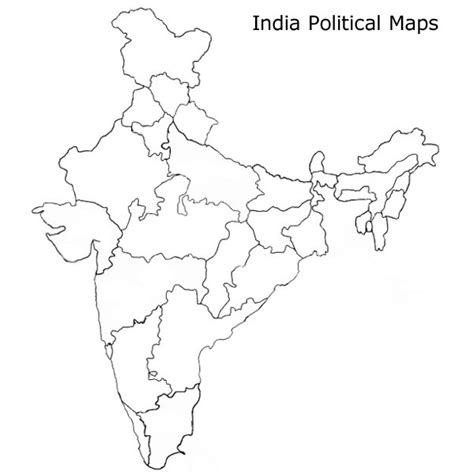An Outline Political Map Of India by Blank India Physical Map Image Search Results