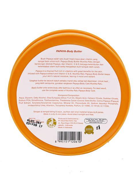 Scrub Mustika Ratu Pepaya mustika ratu butter pepaya pot 200g klikindomaret