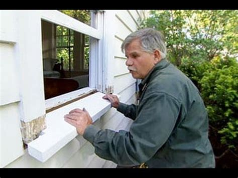 how to install replacement windows in old house how to replace a rotted windowsill this old house youtube home tips pinterest