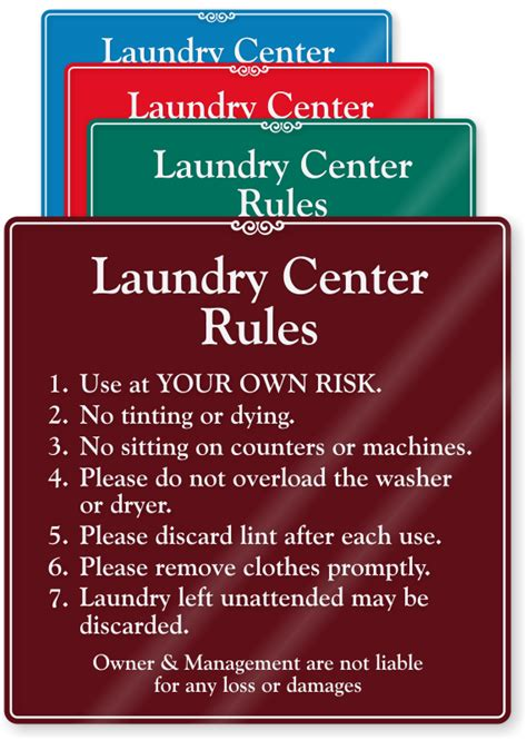 laundry room etiquette laundry signs laundry room signs