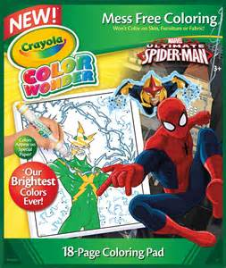 amazon com crayola spiderman color wonder refill book
