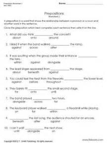 preposition worksheet 2