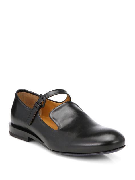 jil sander loafer jil sander leather loafers in black lyst