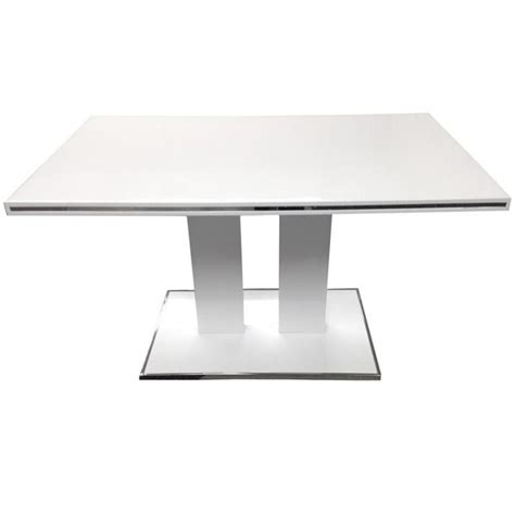 Rectangular Dining Table With Pedestal Base Armen Living Amanda Pedestal Base Rectangular Dining Table In White Lcamdiwhto