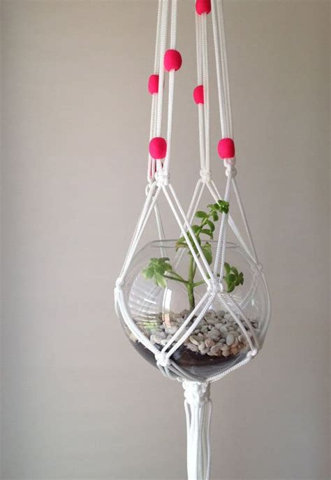 macrame plant hanger patterns to embellish any rustic or
