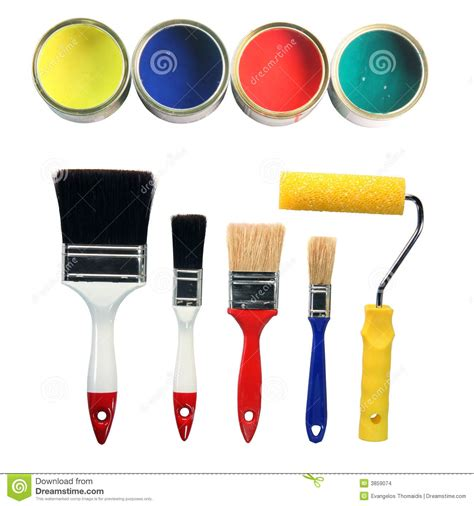 paint colors and tools stock images image 3859074