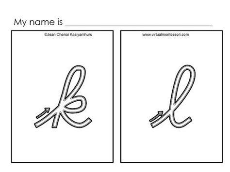 printable montessori cursive letters montessori inspired printables cursive letters