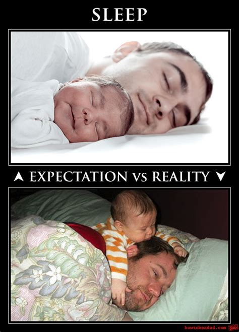 Baby Sleep Meme - howtobeadad com 5 photos that show what parenting is