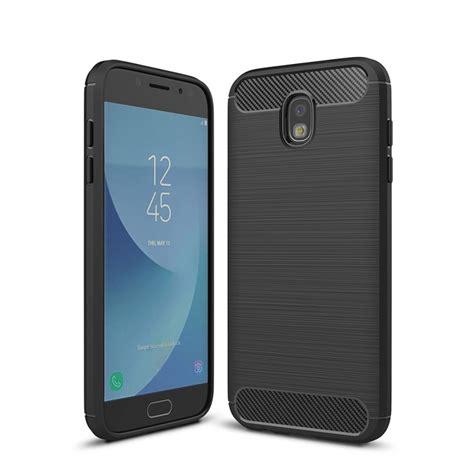 Samsung J7 Cover Armor Black for samsung galaxy j730 j7 pro brushed texture carbon fiber shockproof tpu rugged armor