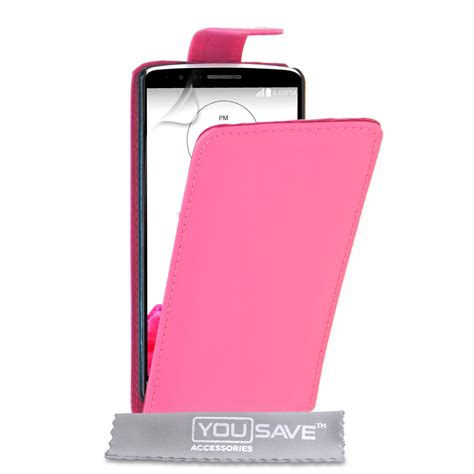 Leather Flip Lg G3 yousave accessories lg g3 leather effect flip pink