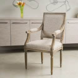 Stripe Fabric Dining Room Chairs Design Weathered Oak Striped Fabric Dining Side