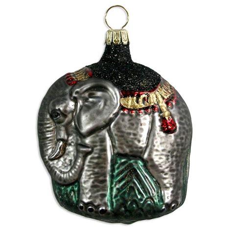 Elephant Ornament - fancy blown glass elephant ornament germany 3 quot
