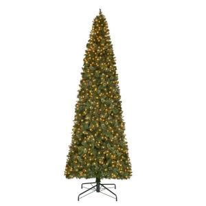 holiday living 12 ft christmas tree 12 ft pre lit led pine artificial set tree with 2850 tips and warm