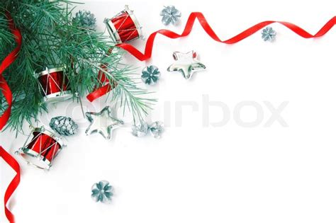 christmas decorations border stock photo colourbox