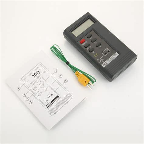 Thermometer Digital Kaku Magic tes 1310 digital thermometer reader meter sensor k type probe tp 01 ca ebay