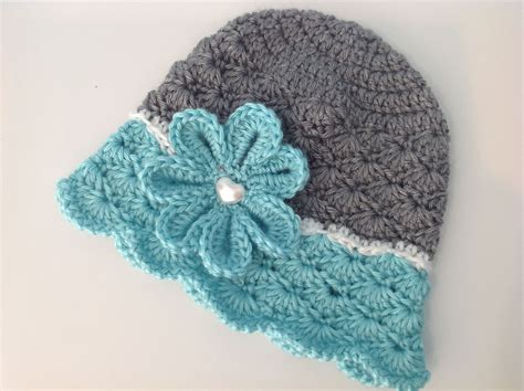 shell pattern crochet video flowered shells hat pattern by melissa r m frank