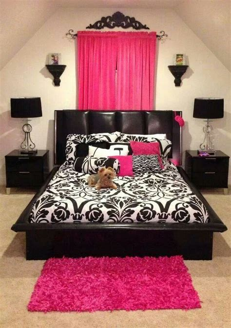 pink and black bedroom black and pink bedroom for the home pinterest