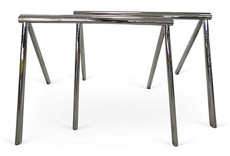 mid century modern dining table base mid century modern chrome saw desk dining table