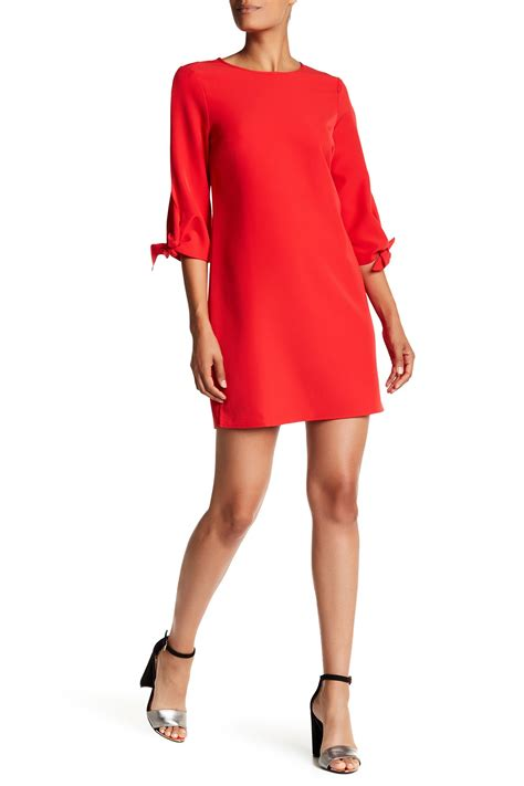 Charles Henry Tie Back Shift Dress by Charles Henry Knotted Sleeve Shift Dress Nordstrom Rack